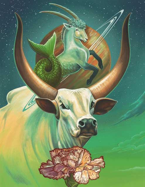 Ox-Capricorn Fine Art Print