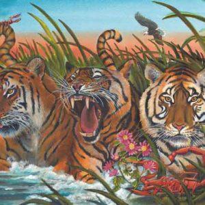 Tiger-Scorpio Fine Art Print