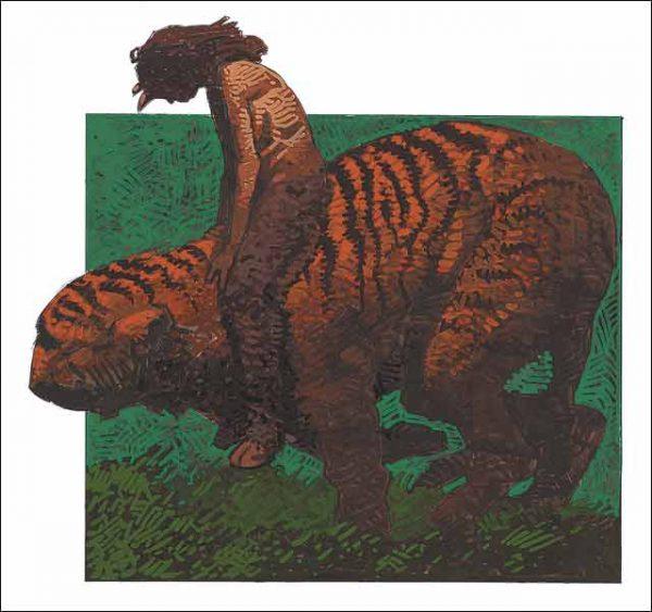 Tiger-Capricorn Fine Art Print