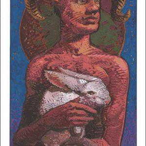 Rabbit-Aries Fine Art Print
