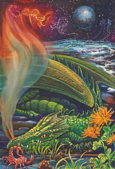 Dragon-Scorpio Fine Art Print