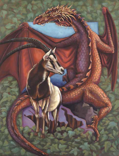 Dragon-Capricorn Fine Art Print
