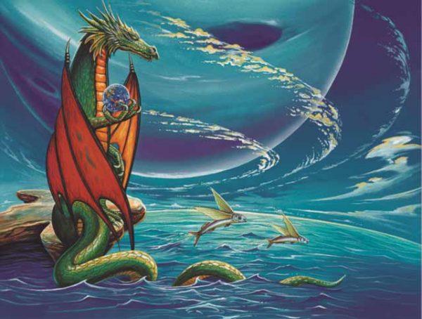 Dragon-Pisces Fine Art Print
