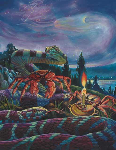 Snake-Cancer Fine Art Print