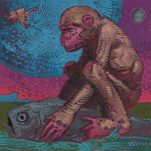 Monkey-Pisces Fine Art Print