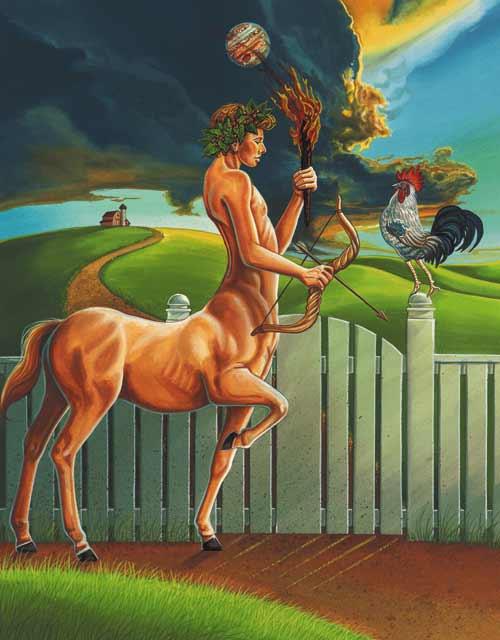 Rooster-Sagittarius Fine Art Print