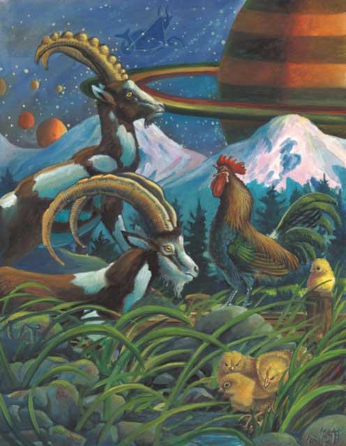 Rooster-Capricorn Fine Art Print