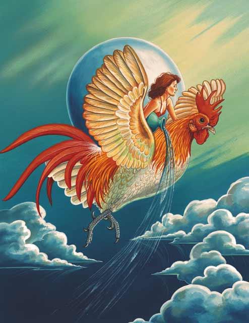 Rooster-Aquarius Fine Art Print