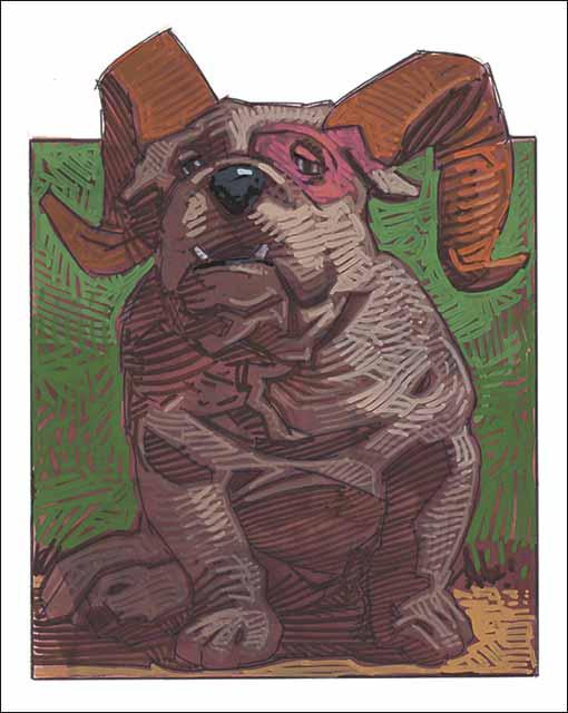 Dog-Aries Fine Art Print
