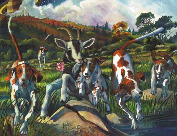 Dog-Capricorn Fine Art Print