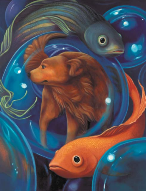 Dog-Pisces Fine Art Print