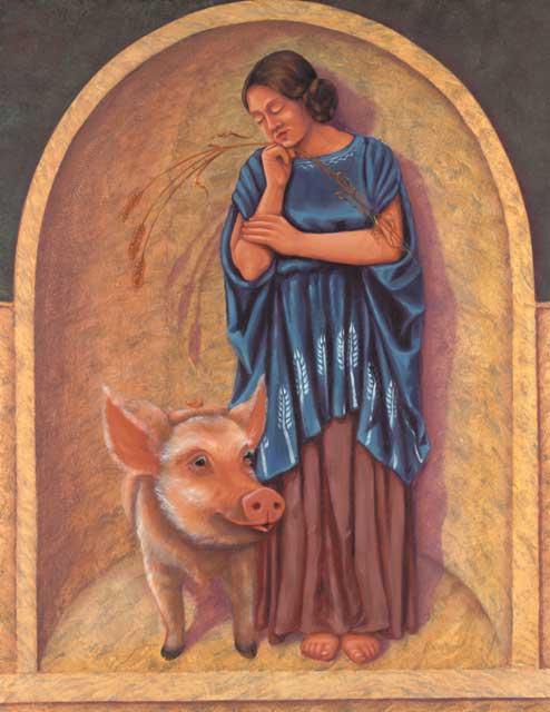 Pig-Virgo Fine Art Print
