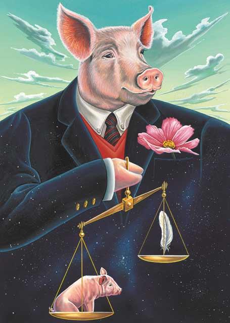Pig-Libra Fine Art Print