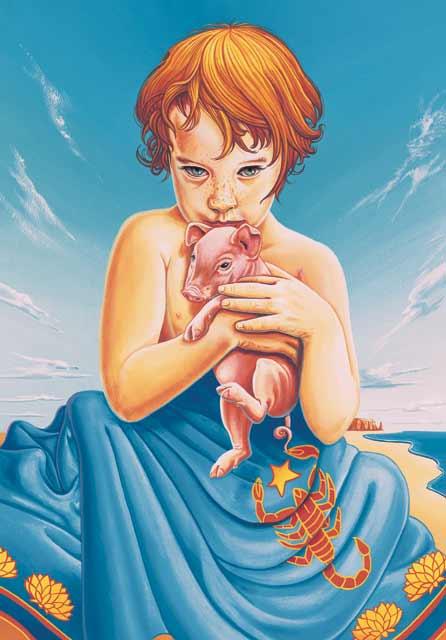 Pig-Scorpio Fine Art Print