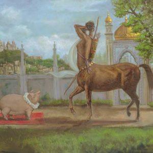 Pig-Sagittarius Fine Art Print
