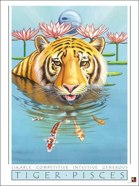Tiger-Pisces Poster
