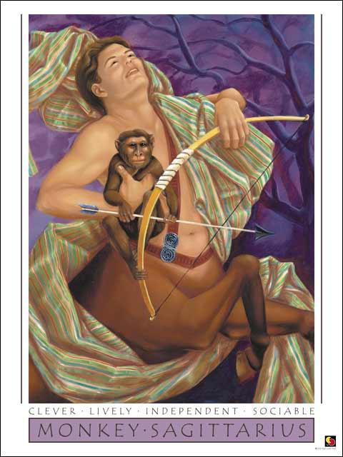 Monkey-Sagittarius Poster