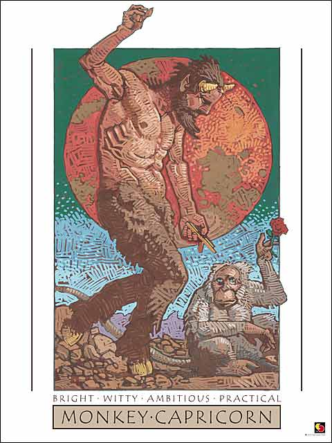Monkey-Capricorn CARD