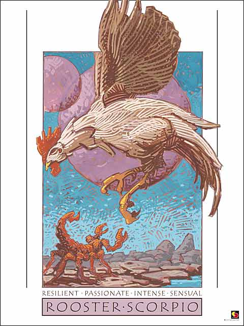 Rooster-Scorpio CARD