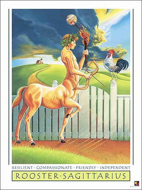 Rooster-Sagittarius Poster