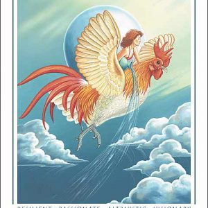 Rooster-Aquarius CARD