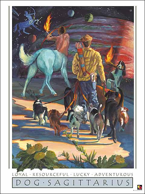 Dog-Sagittarius Poster
