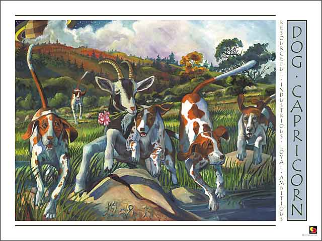 Dog-Capricorn Poster