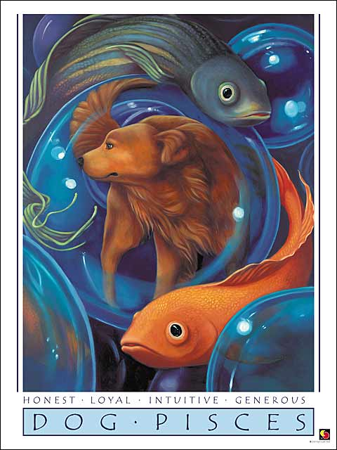 Dog-Pisces Poster