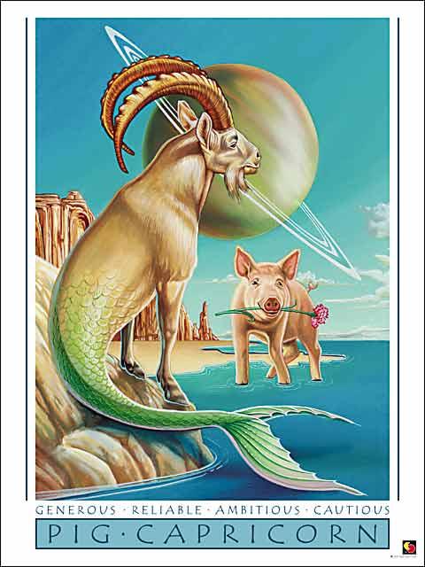 Pig-Capricorn Poster