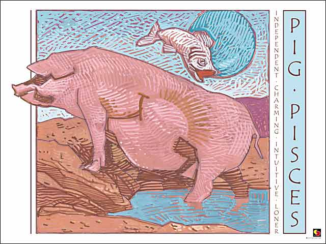 Pig-Pisces Poster