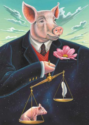 Pig Libra combined sign