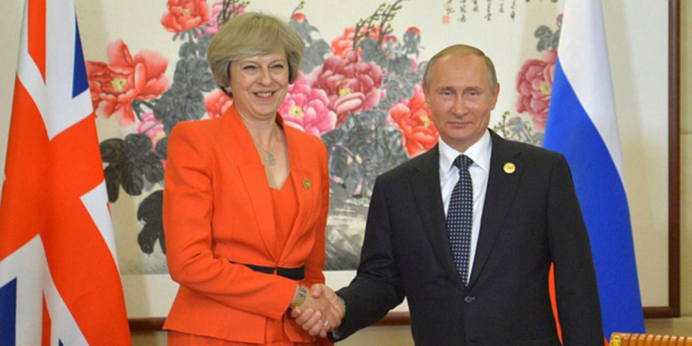 Libras Theresa May Vladamir Putin