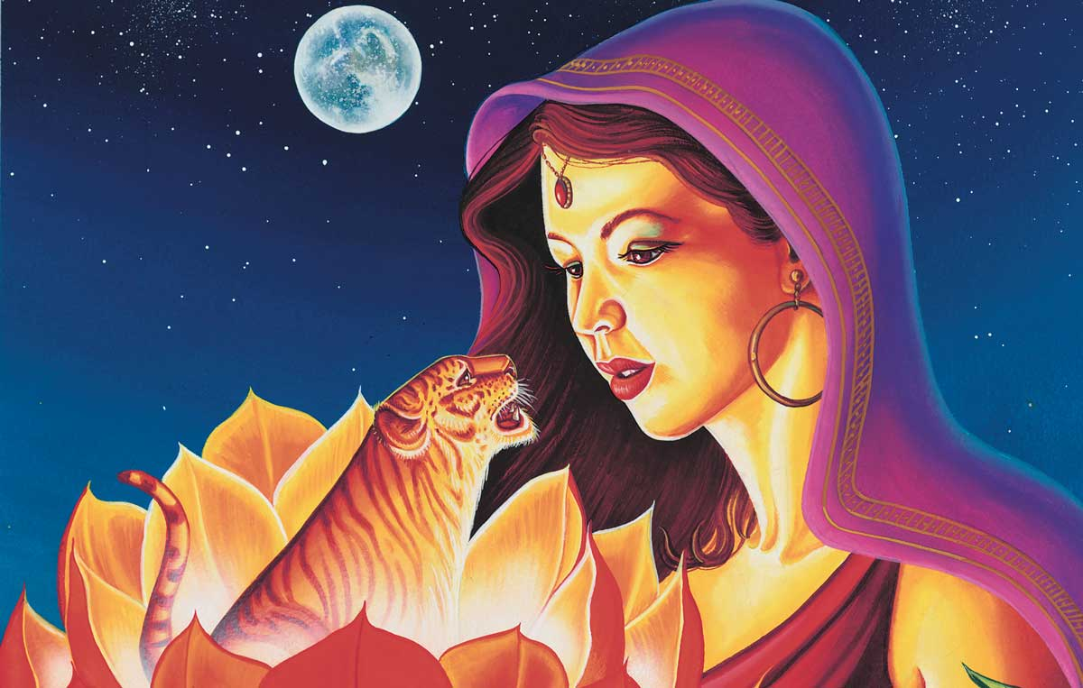 Western astrology sign of Virgo with Eastern animal Tiger
